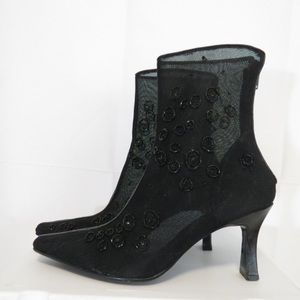 Y-Aschley Enzo Angiolini Sheer Ankle Boots